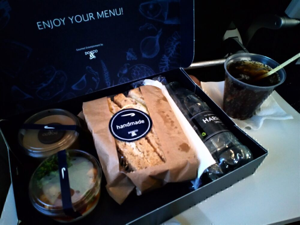 British Airways Club Europe Cold Meal Box August 2020