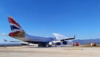 British Airways, Boeing 747, Fire