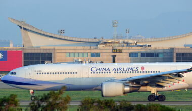China Airlines plane at Taoyuan International Airport