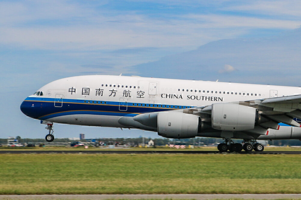 China Southern, Airbus A380, London Heathrow