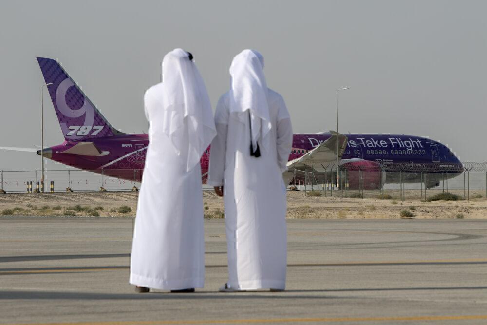 Boeing 787 vertical fin UAE