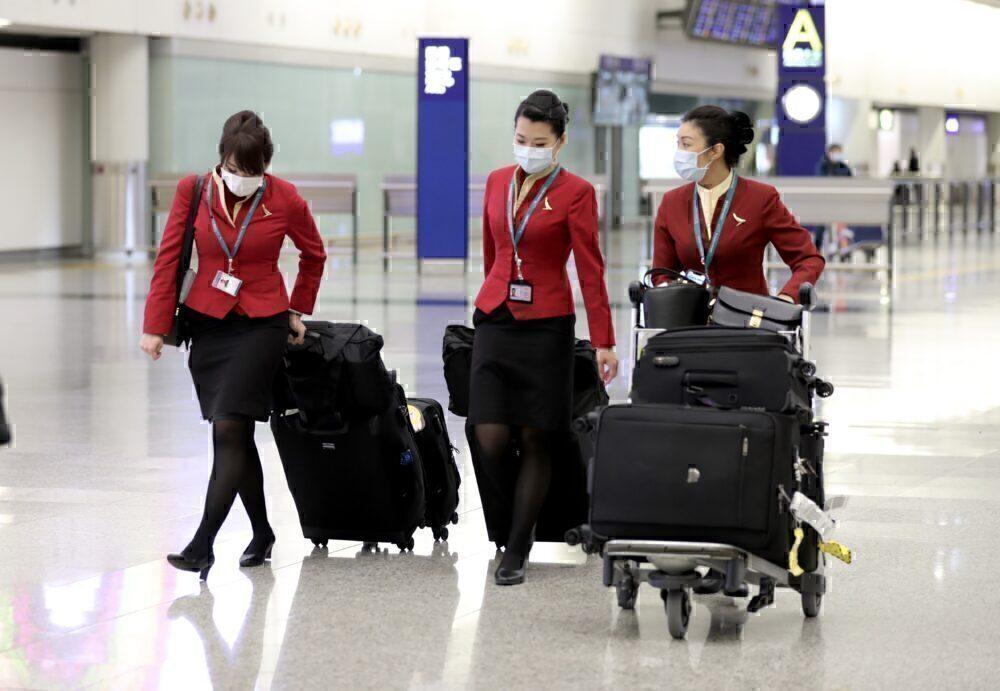 China nappies flight crew