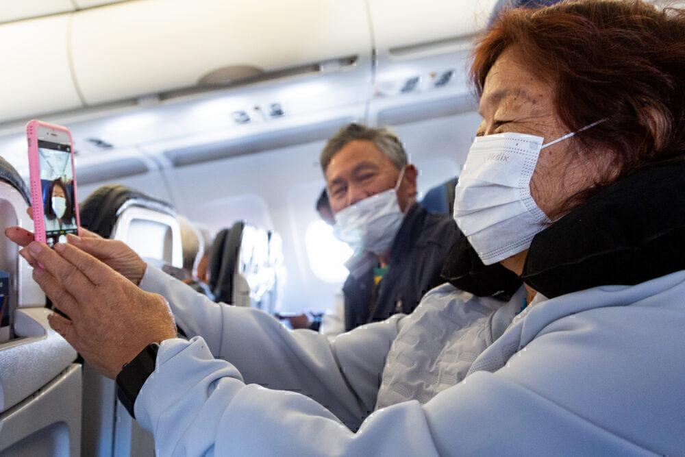 Masks onboard getty