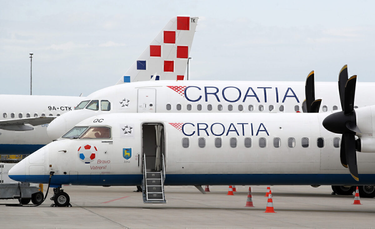 Croatia Airlines government helps Dash and Airbus