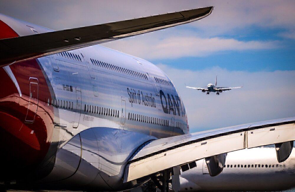 Qantas A380 Virgin Australia 737 Sydney Getty