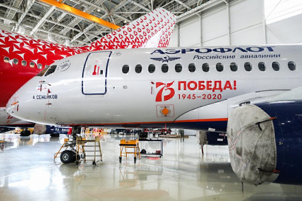 Superjet Aeroflot Rossiya Getty