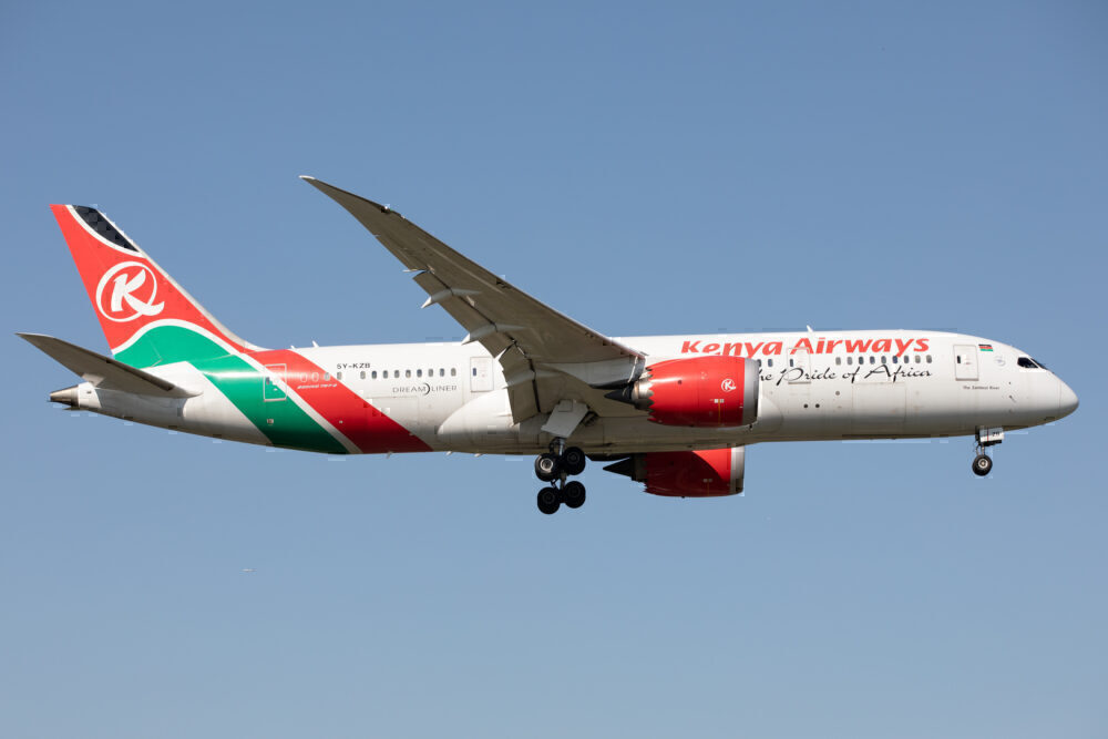 Kenya Airways 787 Heathrow Getty