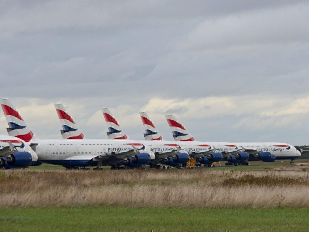 British Airways, Airbus A380, Chateauroux
