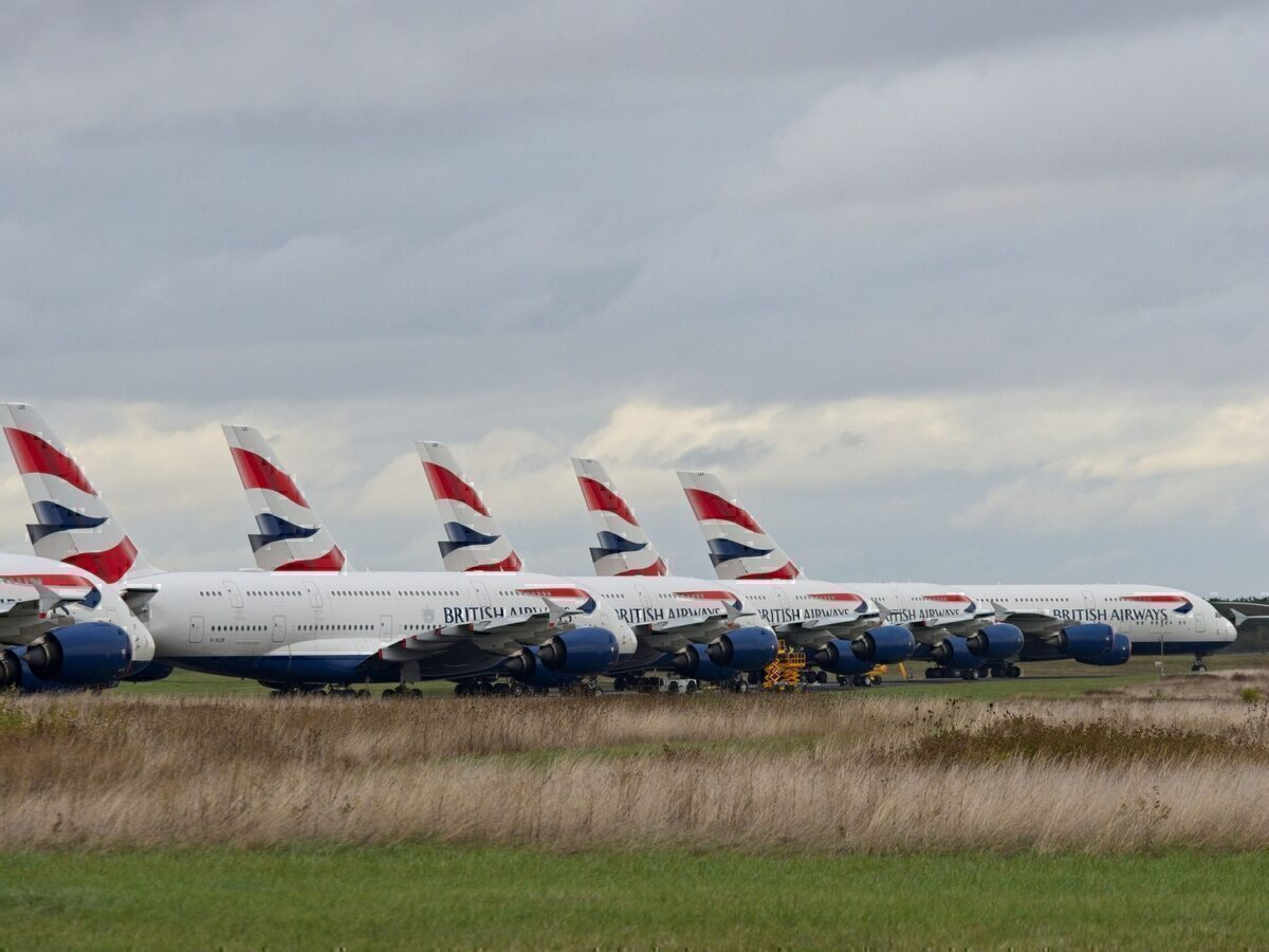 British Airways, Airbus A380, Chateauroux