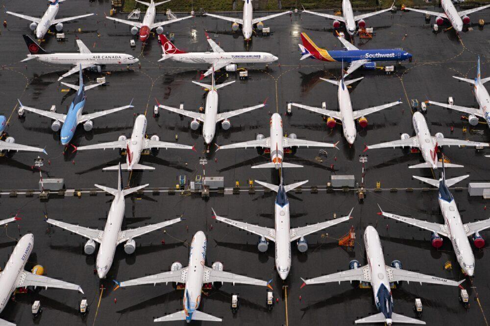 737 MAX parking storage