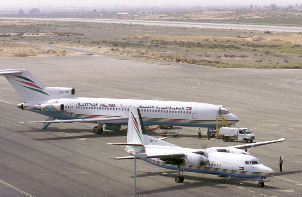 Palestinian airlines aircraft in Gaza