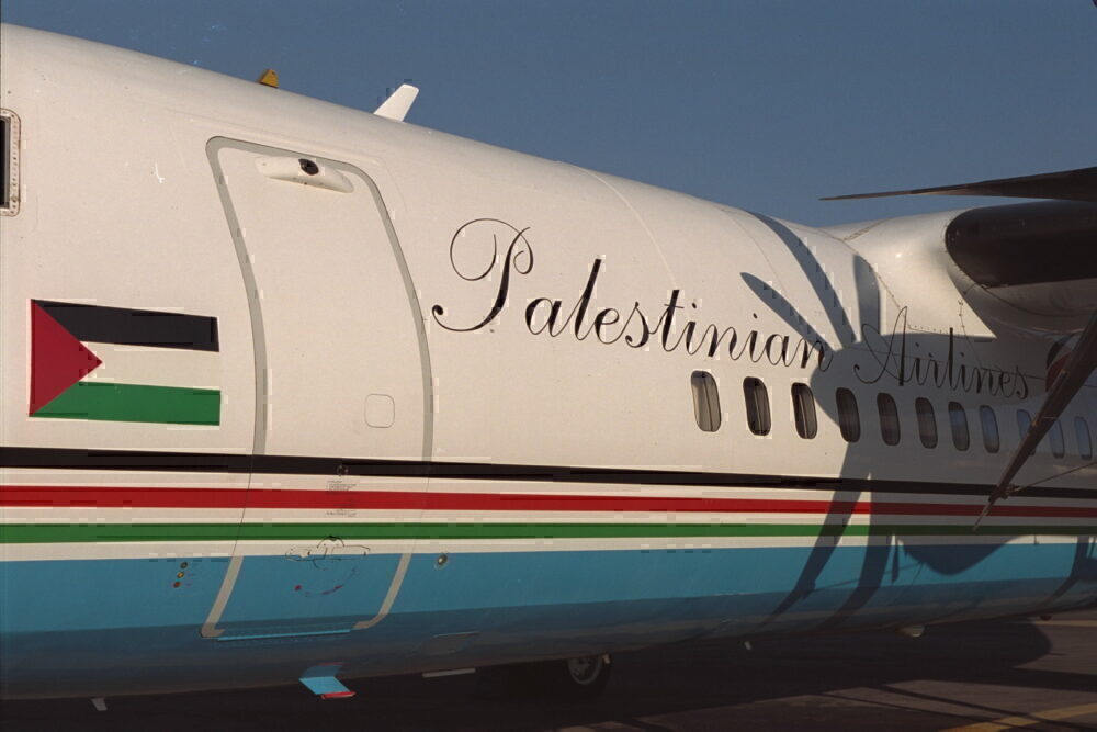 Palestinian Airlines plane