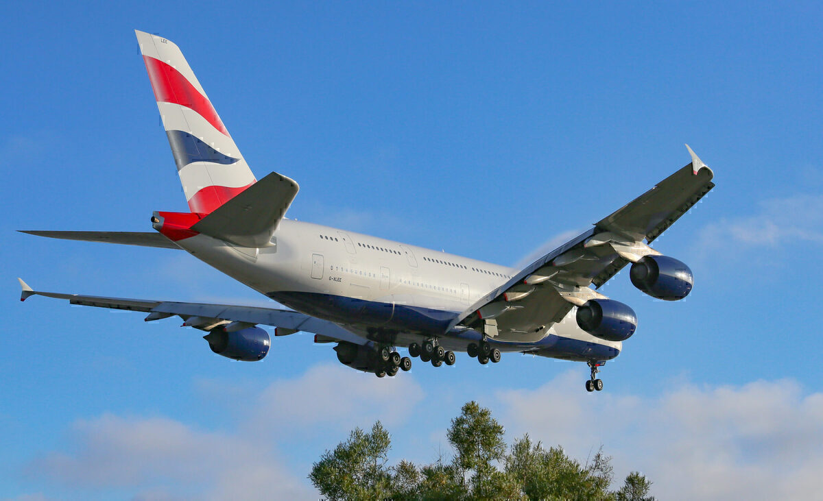 British Airways, Airbus A380, Doha