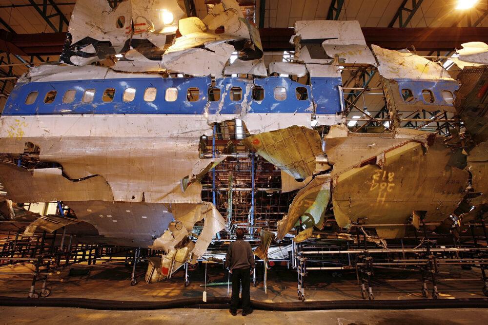 Pan Am boeing 747 Lockerbie bombing fuselage