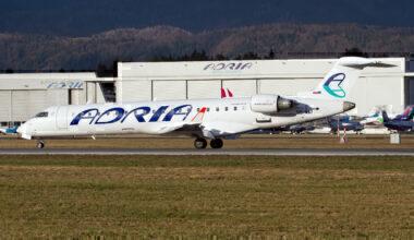 Adria Airways CRJ-700 on the runway