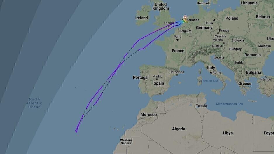 KL705 Flightpath 26Dec2020