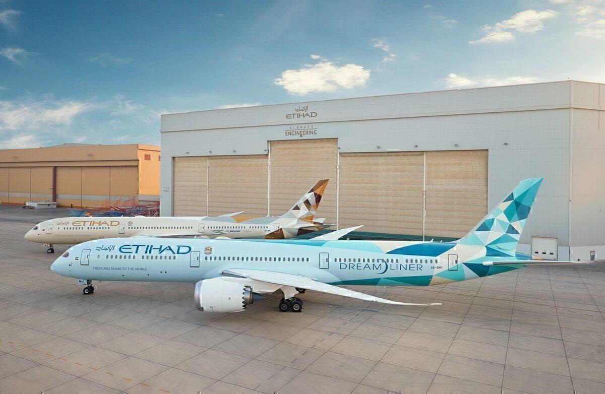 Etihad, Boeing 787-10, ecoDemonstrator