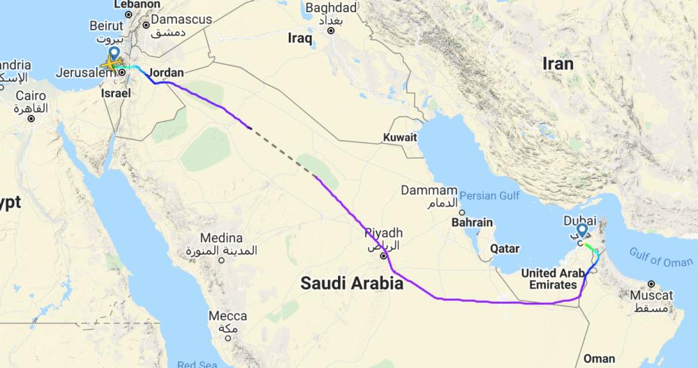 Israir to Dubai