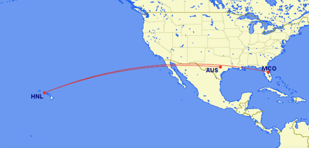 HNL to MCO and HNL to AUS