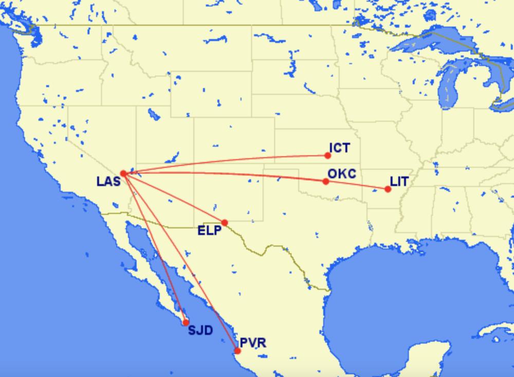 Frontier new Las Vegas routes