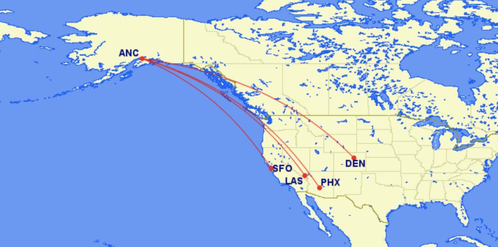 Alaska routes new