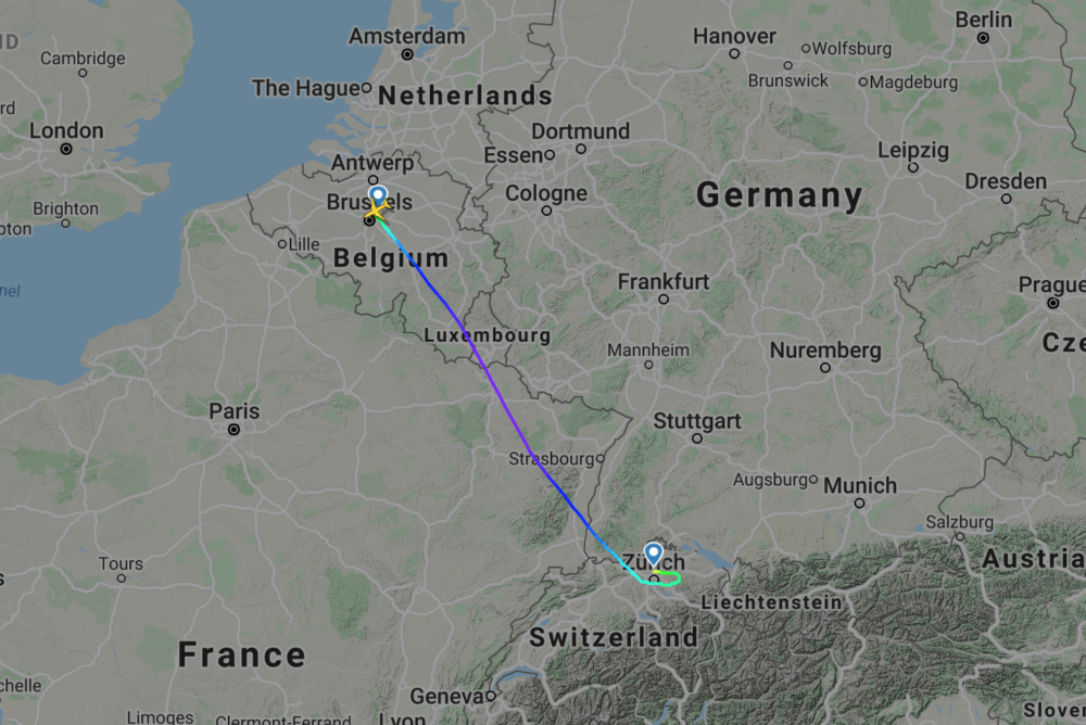 SWISS Schedules 50-Minute Widebody Flights Between Zurich And Brussels