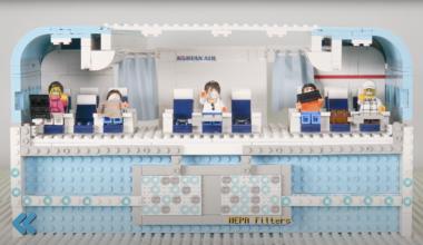 Korean Air Lego HEPA filters