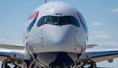 British Airways, Airbus A350, Accra