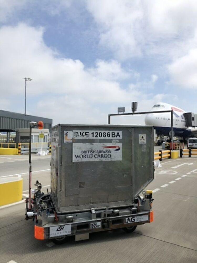 British Airways autonomous baggage cart