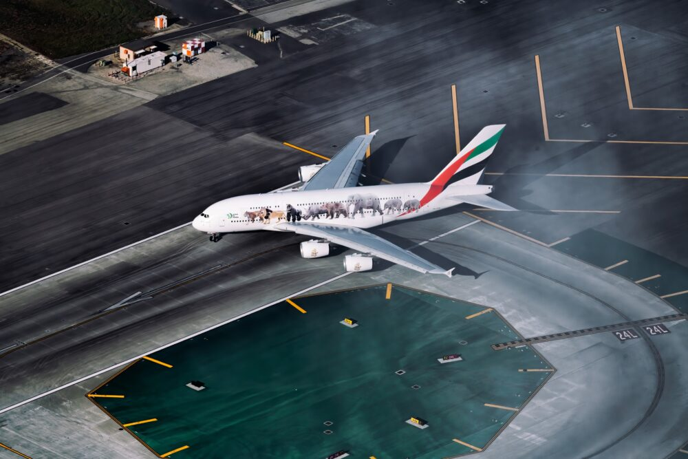 Emirates, Airbus A380, Manchester
