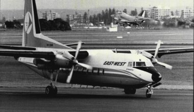 East West Airlines Fokker F-27