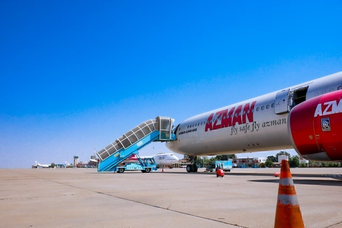 Azman Air, Airbus A340, International Operations