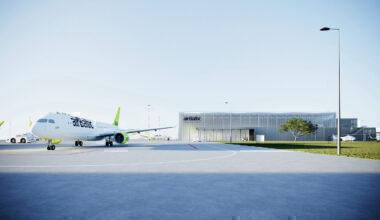 airBaltic, Airbus A220, Maintenance Hangar