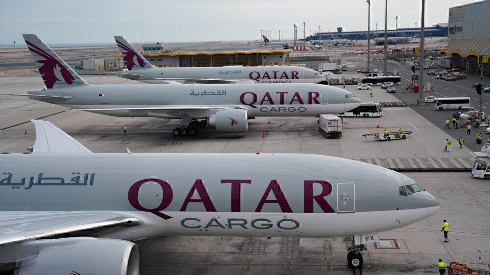 Qatar airways boeing 777 freighter 777F