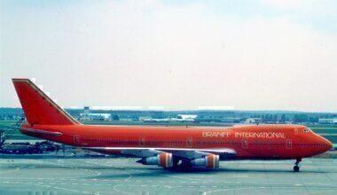 Braniff 747 Frankfurt 1979