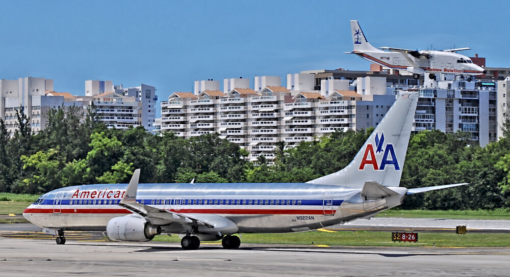 American 737 San Juan Puerto Rico