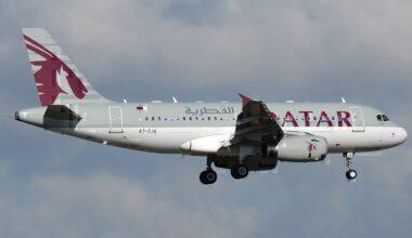 Qatar Airways Airbus A319LR Rome Fiumicino