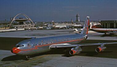 American Airlines Boeing 707 Los Angeles
