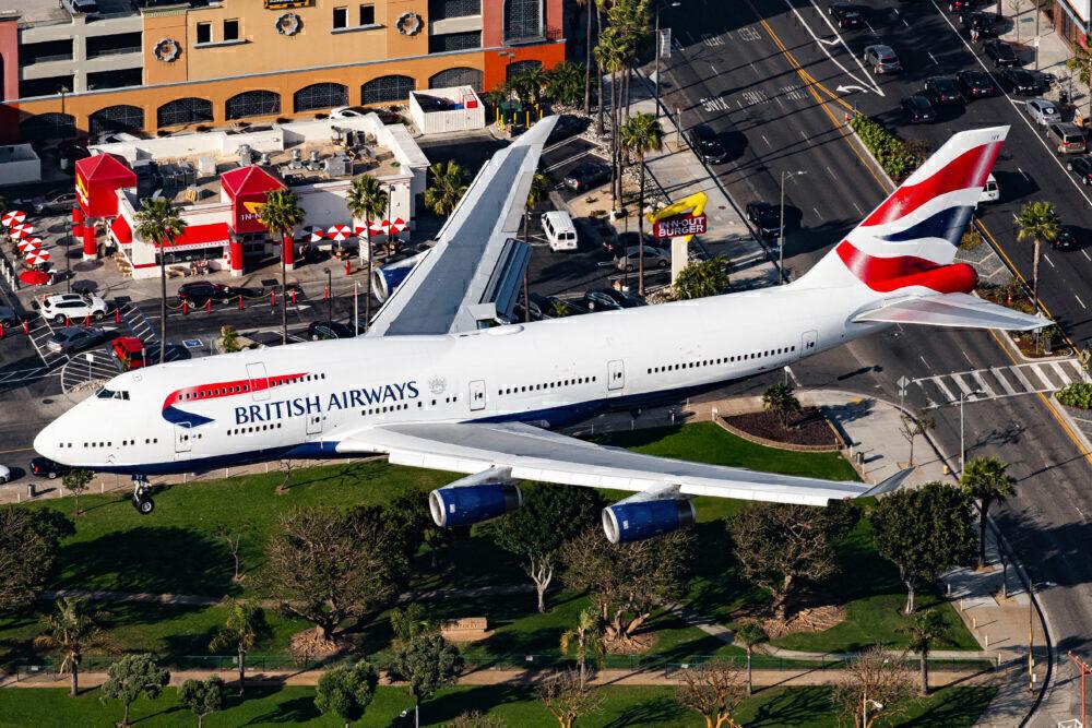 British Airways Boeing 747 Los Angeles