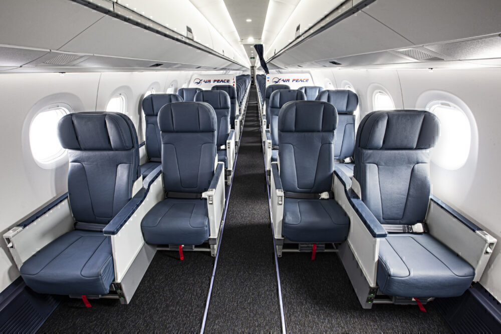 Air Peace Embraer E195 Business Class cabin