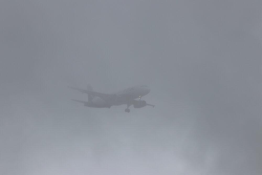 IndiGo plane fog