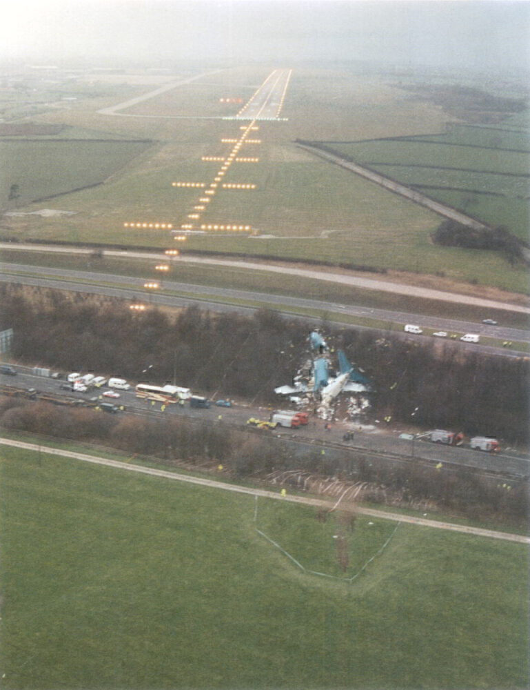 Kegworth Air Disaster Site From The Air