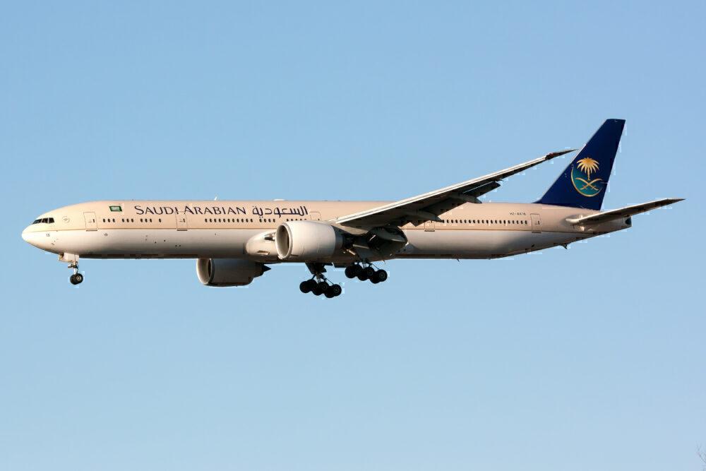 Saudia 777 Heathrow Getty