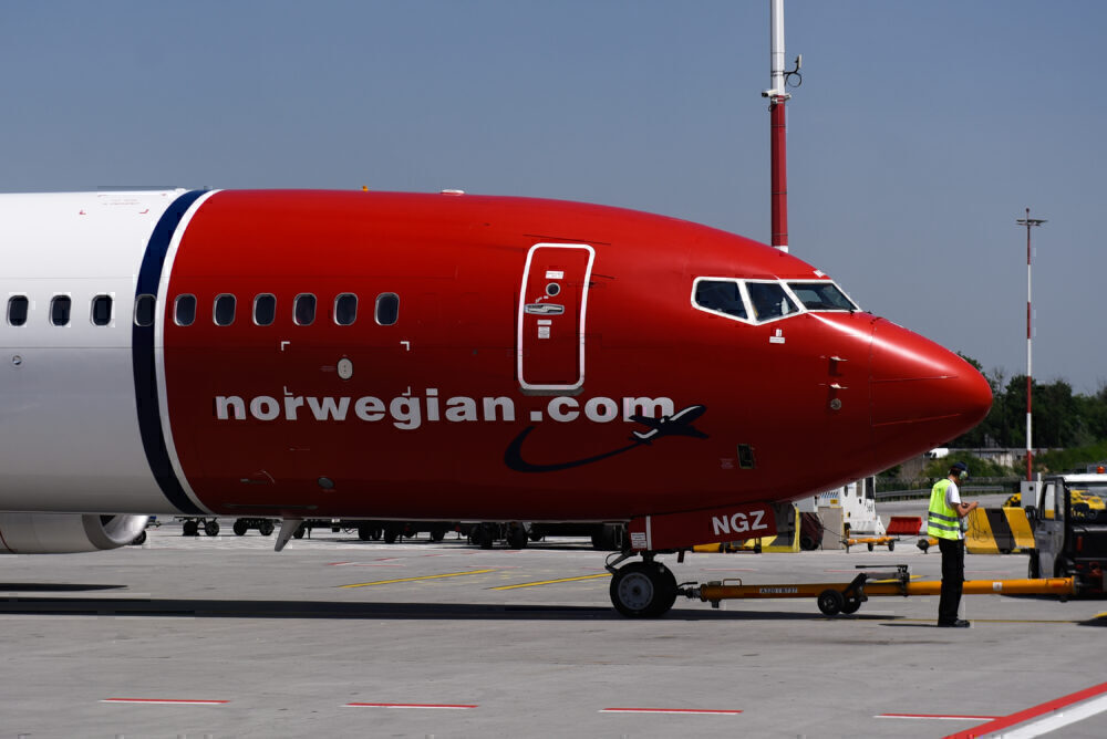 Norwegian Air Boeing 737 Max 8 Aircraft seen at the Krakow