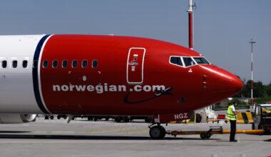 Norwegian Air Boeing 737 Max 8 Aircraft seen at the Krakow