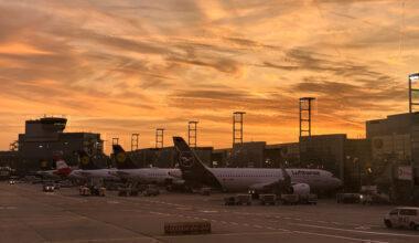 Lufthansa Frankfurt Sunset