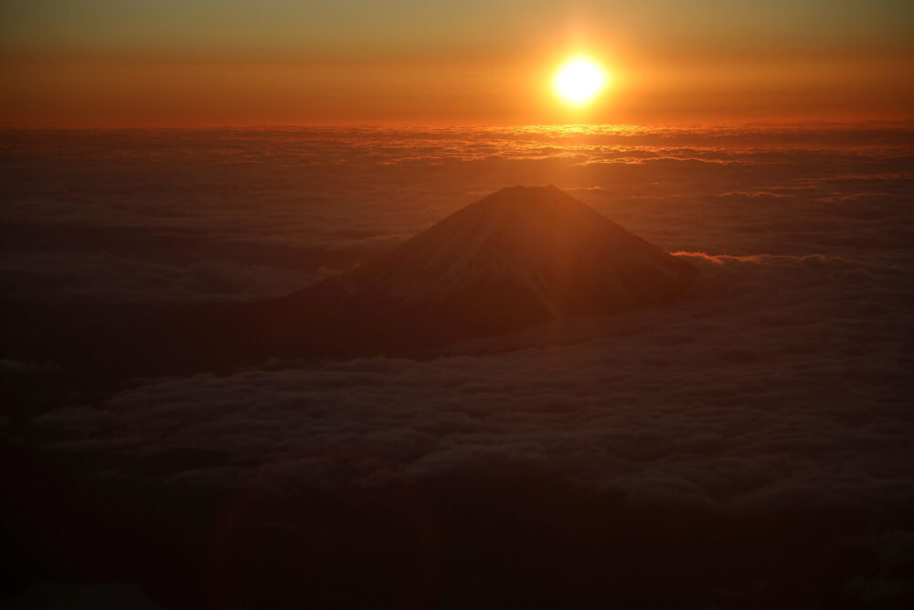 Mount Fuji Sunrise New Year