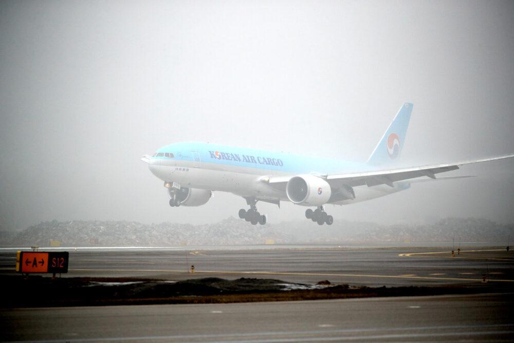 Airport Fog Korean Air Cargo Getty