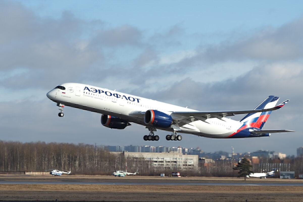 Aeroflot's Airbus À350-900 at St Petersburg Airport