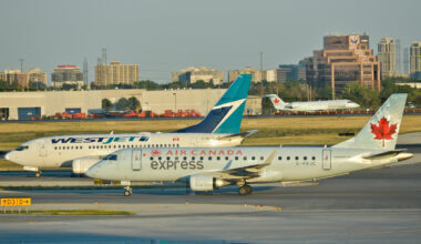 Air Canada and WestJet Getty